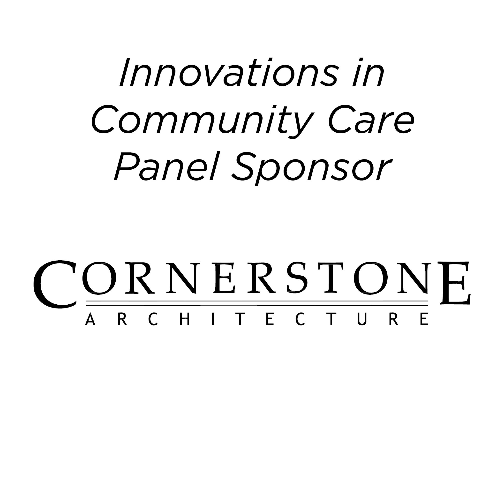 Cornerstone Architecture - Afternoon Panel