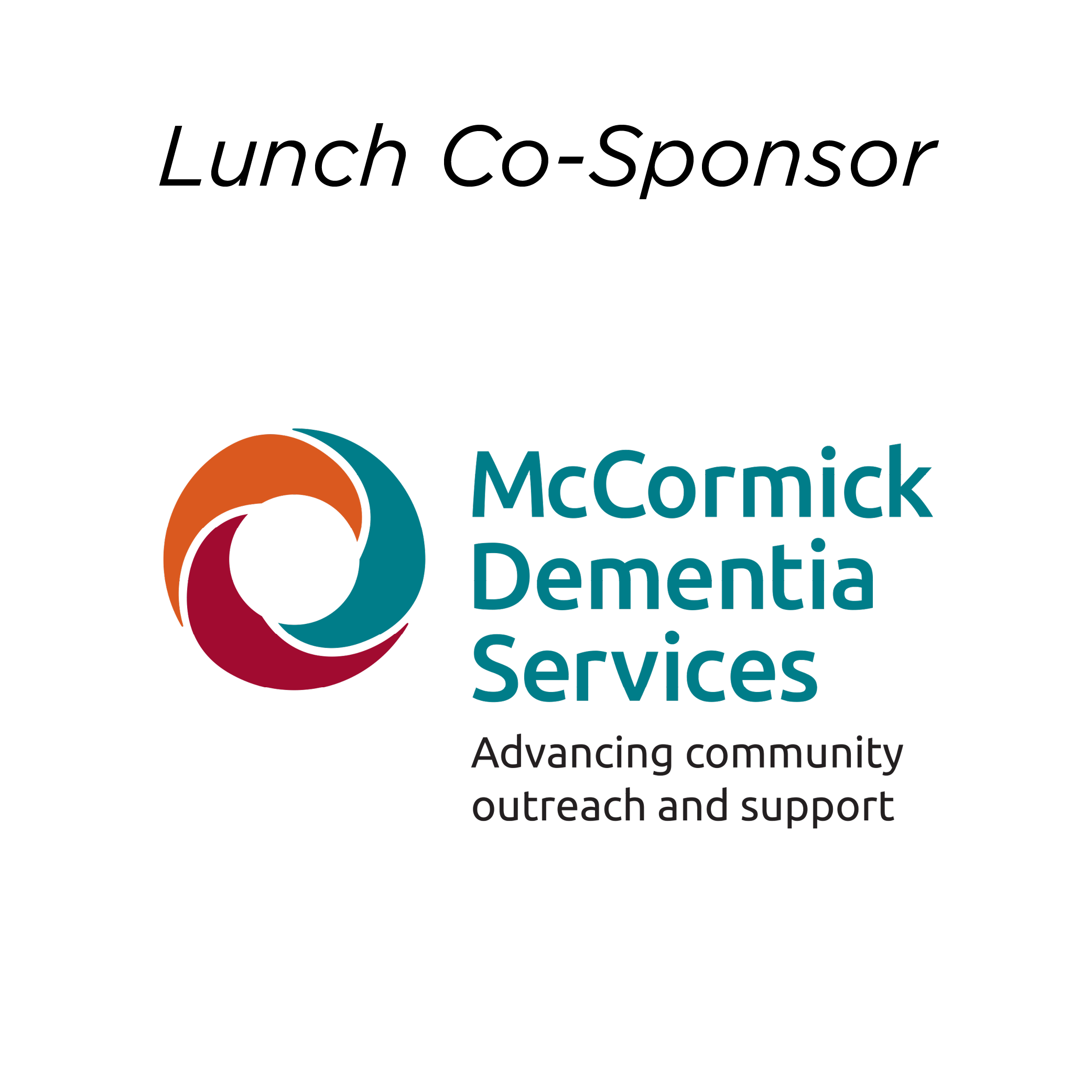 McCormick Dementia Services - Lunch Sponsor